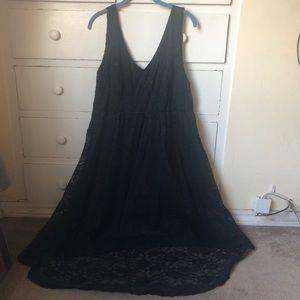 Torrid Black High-Low Lace Dress